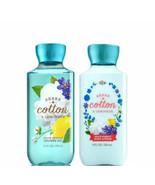 Bath & Body Works SHEER COTTON & LEMONADE Body Lotion Shower Gel Set New - $31.18