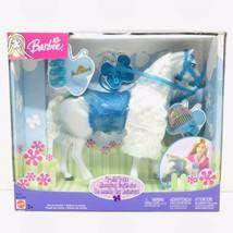 Barbie Posh Pets Horse Gray with Blue Saddle Rare New Sealed 2003 Mattel 67019 - $79.19