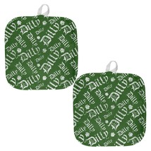 Dilly Dilly Old English Pattern All Over Pot Holder (Set of 2) - $18.95