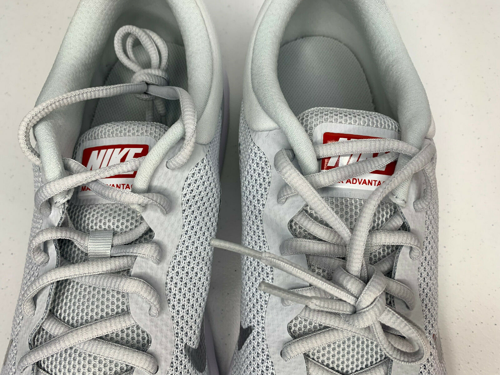 NIB SIZE 15 MEN Nike Air Max Advantage Running Shoes Platinum White Trainer NEW  image 3