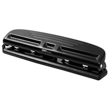 Chris.W Adjustable Black 4-Hole Paper Punch Puncher for A4 Refills - 10 ... - $32.90