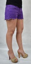 J Brand 7037 Bright Purple Cut Off Short Jeans 26 Womens USA image 3