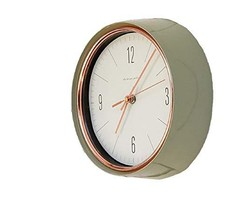 Mooas Retro Metal Glass Round Wall Clock Non Ticking Silent Quartz Decorative Mo