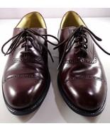 Bostonian Impression Burgundy Brown Leather Cap Toe Dress Shoes Men's 11... - $89.95