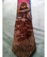 Endangered Species King Of Beasts 1996 Marc Dennis Vintage Mens Tie 100%... - $17.81