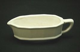 Old Vintage Heritage White by Pfaltzgraff Gravy Boat Stoneware Multi-Sided USA - $24.74