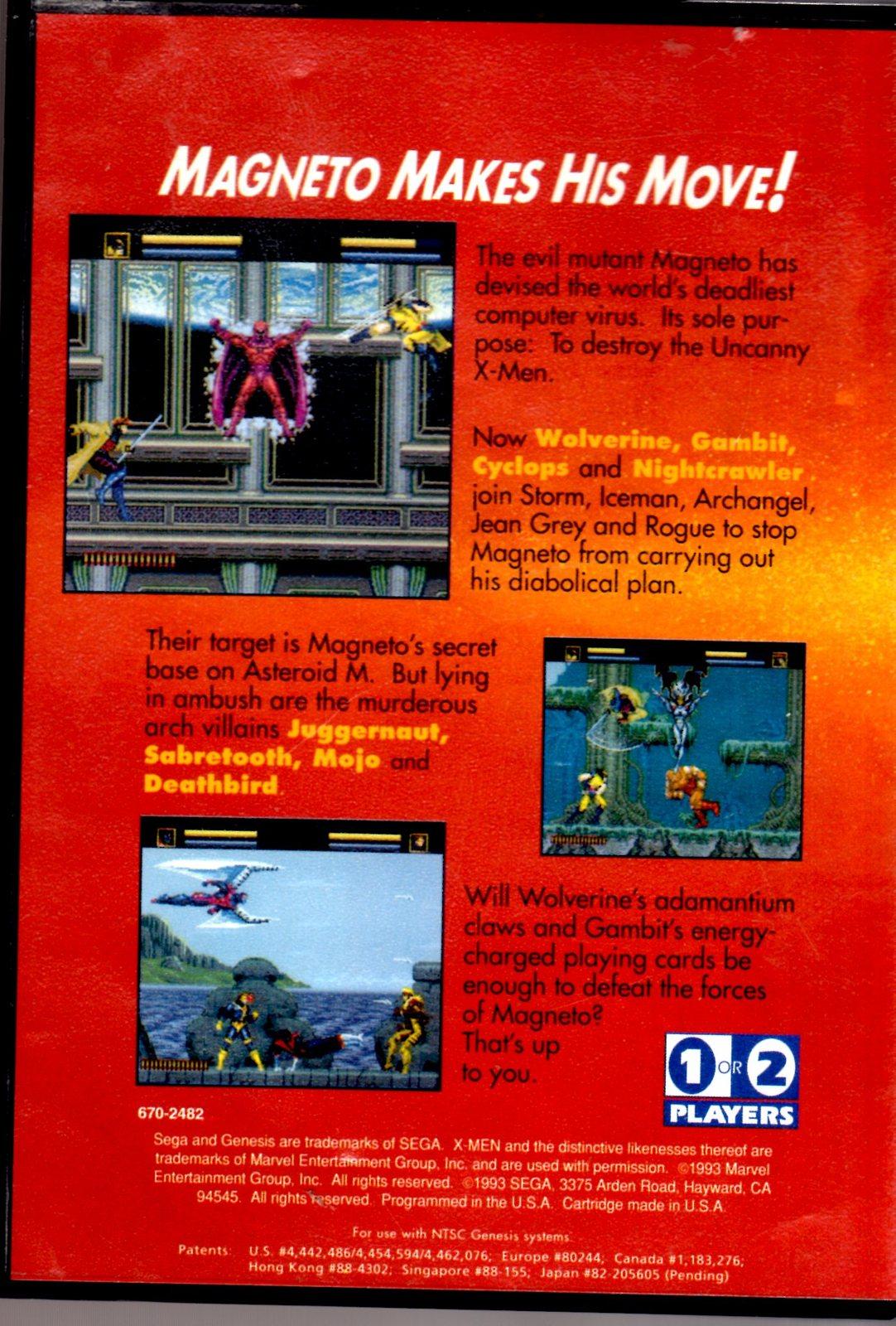 X-Men (Sega Genesis Game)  Complete with Case & Manual image 5