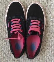 Vans Authentic Multi Pop Unisex Skateboarding Shoes Black/Multi ~Men 7/W... - $28.66