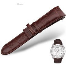 Compatible 22mm Curved Leather Watch Strap Fits Tissot & Other Curvedend Wathes - $33.99