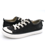 Keen Womens 5W Black White Canvas Lace Up Low Top Comfort Sneaker Shoes ... - $29.99