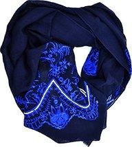Echo Design Womens Oblong Scarf Sansa's Embroidery (Dark Navy) - €40,76 EUR
