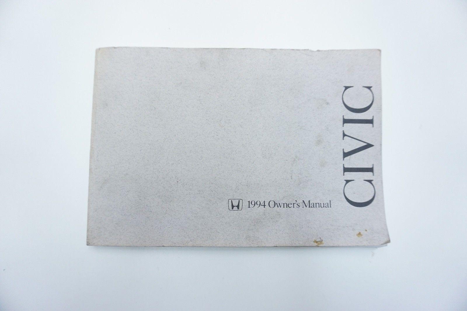 1994 Honda Civic Factory Owners Manual OEM