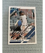 2019 Donruss Ronald Acuna  Autographed Signed Baseball Card W/COA - $42.06
