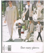 Vogue 2194 Five Easy Pieces Wardrobe Sewing Pattern Sizes 20-22-24 - $8.00