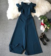 2019 new fashion women's clothing adult Ruffled irregular trousers jumpsuit fema - $29.00