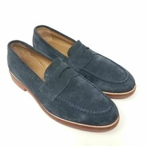 J.CREW Mens Penny Loafers Blue Suede Leather Gum Soles Work Dress Casual 11 - $45.99