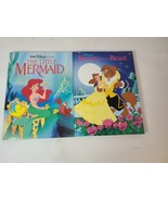 Disney Princess Hardcover Books Set The Little Mermaid & Beauty And The ... - $25.88