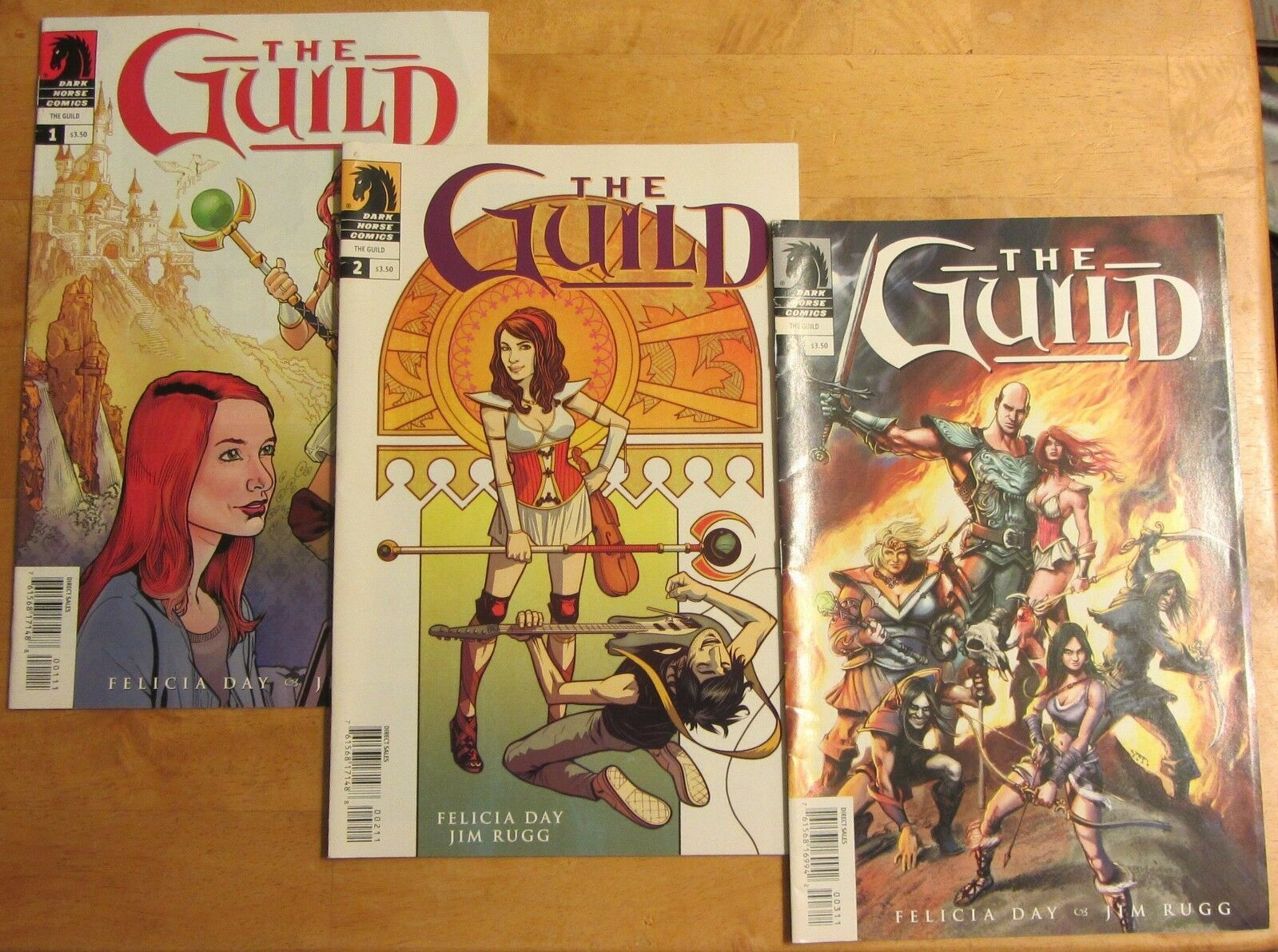 Dark Horse Comics The Guild - Felicia Day Issue 1 Issue 2 Issue 3
