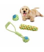 Dog Chew Toy Pet Puppy Durable Cotton Teeth Cleaning Treats Rope Green B... - $9.89