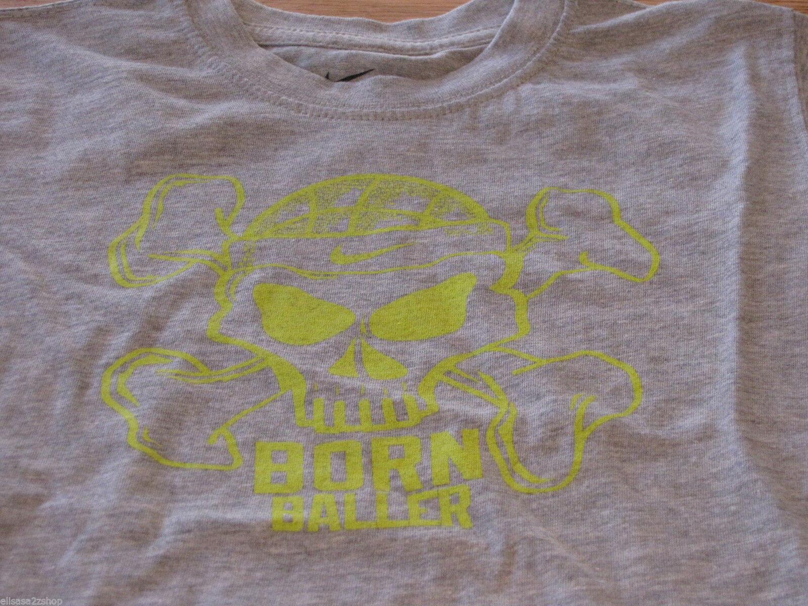 Boy's Youth 2T Nike born Baller smack talk sports grey T shirt TEE NEW NWT logo