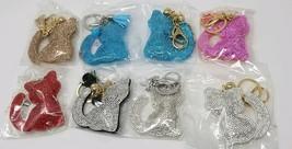 US Shipped~ Fashion Charm Keychain Pendant Cat Rhinestone Leather Keyrin... - $4.99