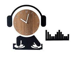 Moro Design DJ Wall Clock Non Ticking Silent Quartz Decorative Modern Clock Deco