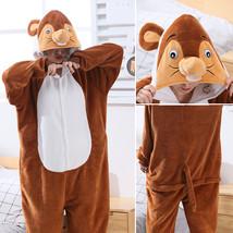 Adults' Kigurumi Pajamas Mouse Onesie Pajamas Flannelette Brown Cosplay ... - $20.00