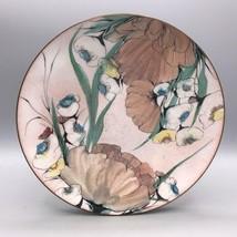 Vintage Lilyan Bachrach Enamel on Copper Floral Plate Bachrach Art Ename... - $74.24
