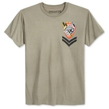 $24 Ring Of Fire Mens Tiger Bomb Squad Embellished T-Shirt, Olive, Size L. - $14.84