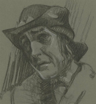 Malcolm Rogers - Signed 1939 Charcoal Drawing, Portrait Study of a Male - $56.00