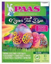NEW Paas Neon Tie Dye Fun Expressions Easter Egg Decorating Coloring Kit NIB