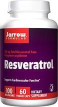 Jarrow Formulas Resveratrol, Supports Cardiovascular Function, 100mg, 60 Veggie