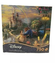 Disney Thomas Kinkade Beauty and The Beast Castle Puzzle Holiday Gift 750pcs - $19.79