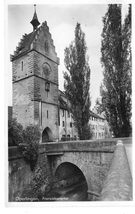 Germany Uberlingen Franziskanertor Franciscan Gate Gebruder Metz RPPC Postcard - $4.99