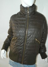 BABY PHAT Jacket Puffer Leather Kimora Lee Simmons Brown Coat XX-Large image 1