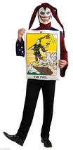 New The Fool Tarot Card Jester Hat Joker Halloween Costume Size Adult Medium Nwt - $19.99