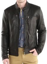 Mens Black genuine Handmade Bespoke cowhide Leather Jacket Real Bespoke - $118.79+