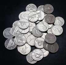Full Roll of 1965 Canada Nickels (5 Cents) - 40 Circulated Coins - Flat ... - $5.01