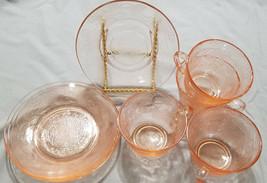Vintage MacBeth Evans Pink Depression Dogwood Cups & Saucers (8 pc.), 1930s - $27.00