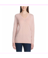 Lots of 3 DKNY Jeans Ladie V-neckline Long Sleeve Soft Pullover Ivory Sw... - $34.08