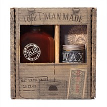 18.21 Man Made Sweet Tobacco 3-in-1 Shampoo, Conditioner, Body Wash (18oz) & Hig
