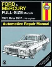 HAYNES MANUAL Ford & Mercury Full-Size Models 1975-1987 - $21.23