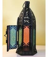 Moroccan Garden Lantern Candleholder Blue Green Red Peach Wedding Center... - $9.81
