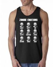 671 Zombie Emotions Tank Top dead funny scary horror gore halloween party - $16.00+