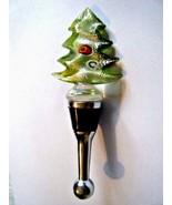 Millefiori Glass Christmas Tree Bottle Topper Stopper New In Gift Box - $14.80