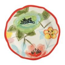 "Four (4) Pioneer Woman ~ Red ~ ""Vintage Bloom"" ~ 8.5"" Ceramic Salad Plates - $59.40"