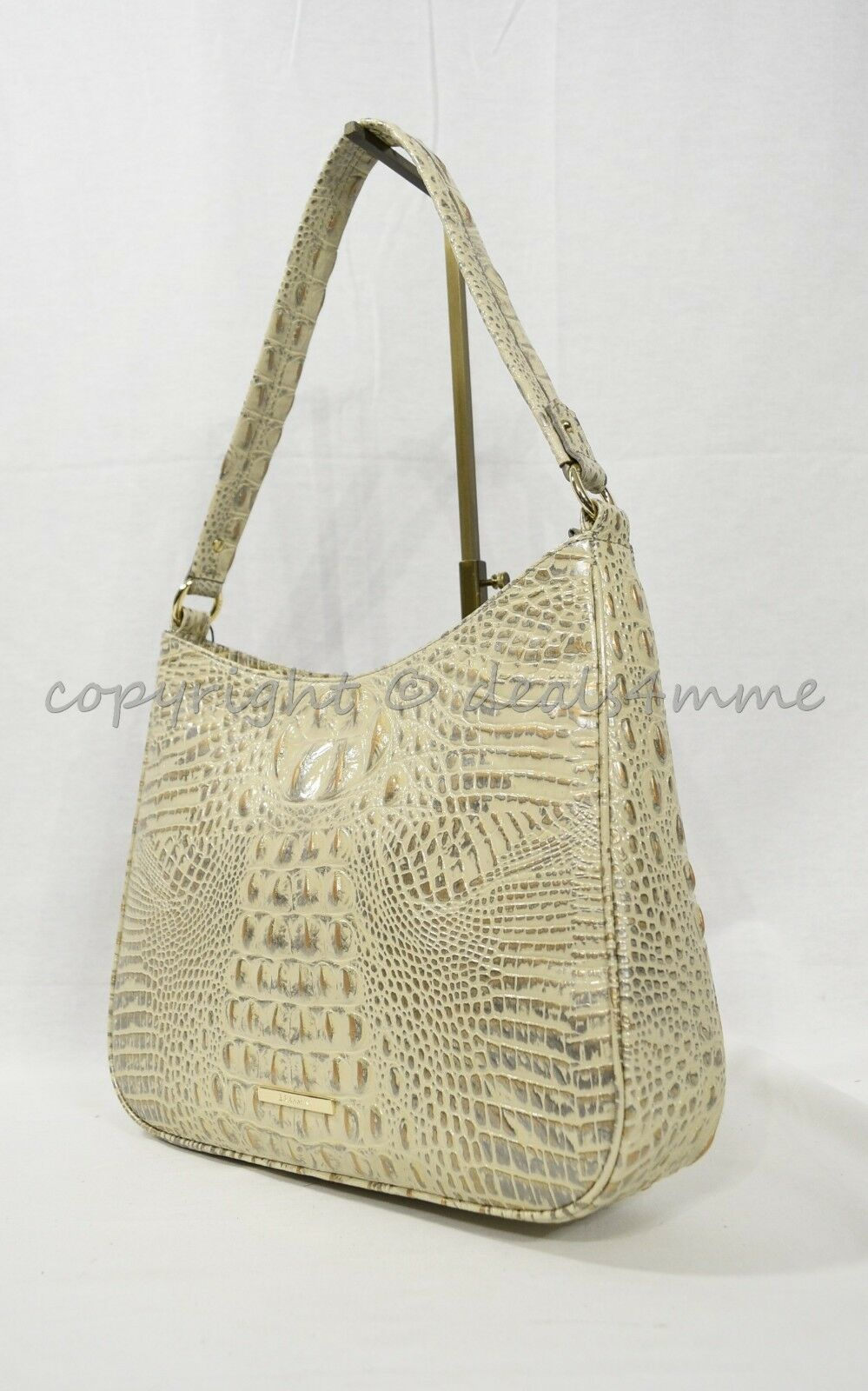 Primary image for NWT Brahmin Noelle Leather Tote / Shoulder Bag in Silver Birch Melbourne