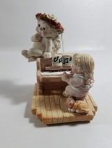 "DREAMSICLES FIGURINE ""PIANO LESSON"" ANGELS CHERUBS LITTLE GIRL CAT PIANO... - $13.85"