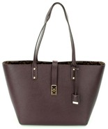 Michael Kors Karson Large Shopper Tote Bag Leather Damson Purple Handbag - $283.11