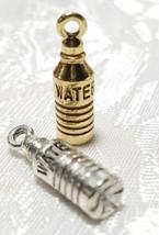 WATER BOTTLE FINE PEWTER PENDANT CHARM - 5mm L x 20mm W x 5mm D image 1